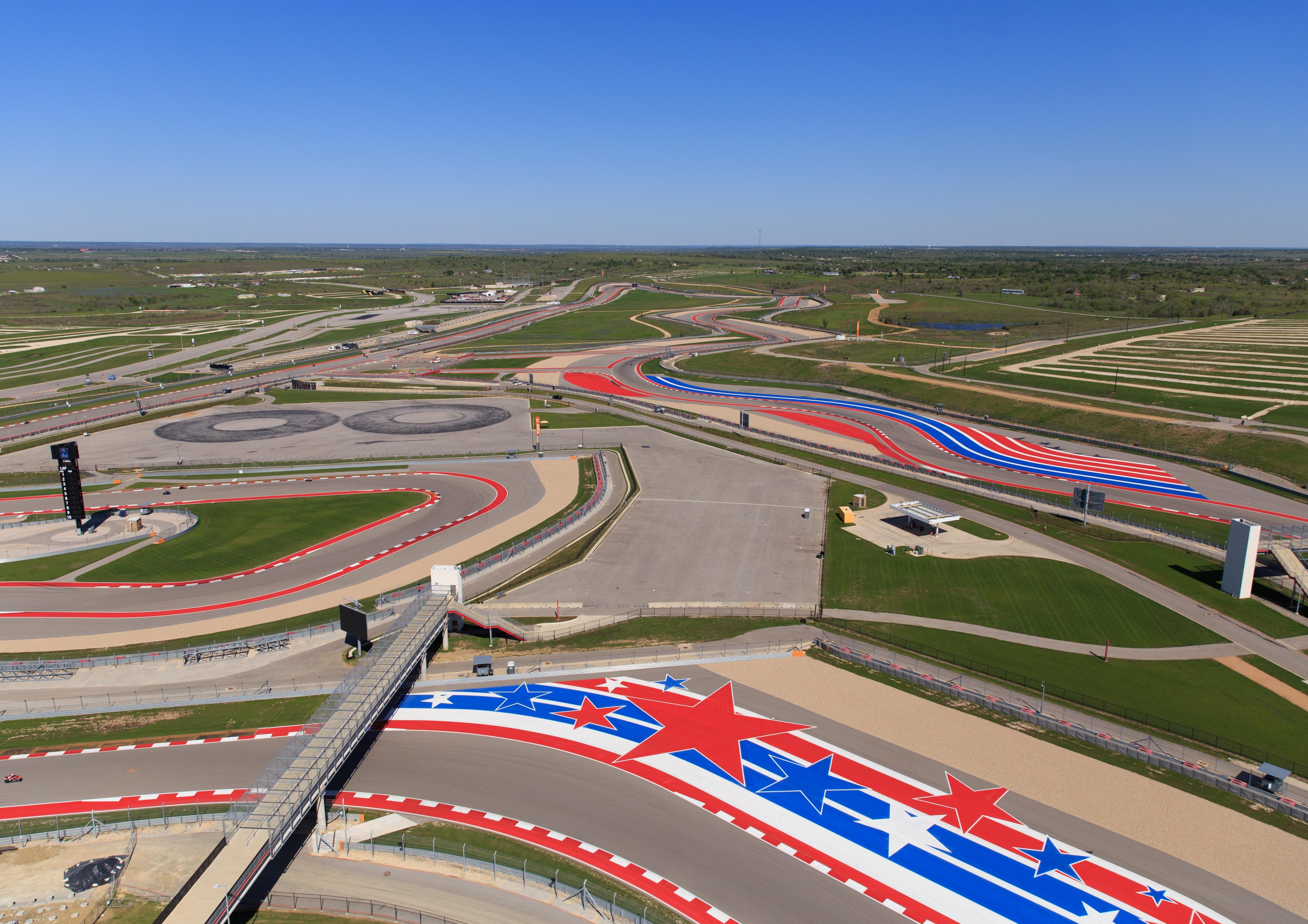 Circuit of Americas F1 Race Track.