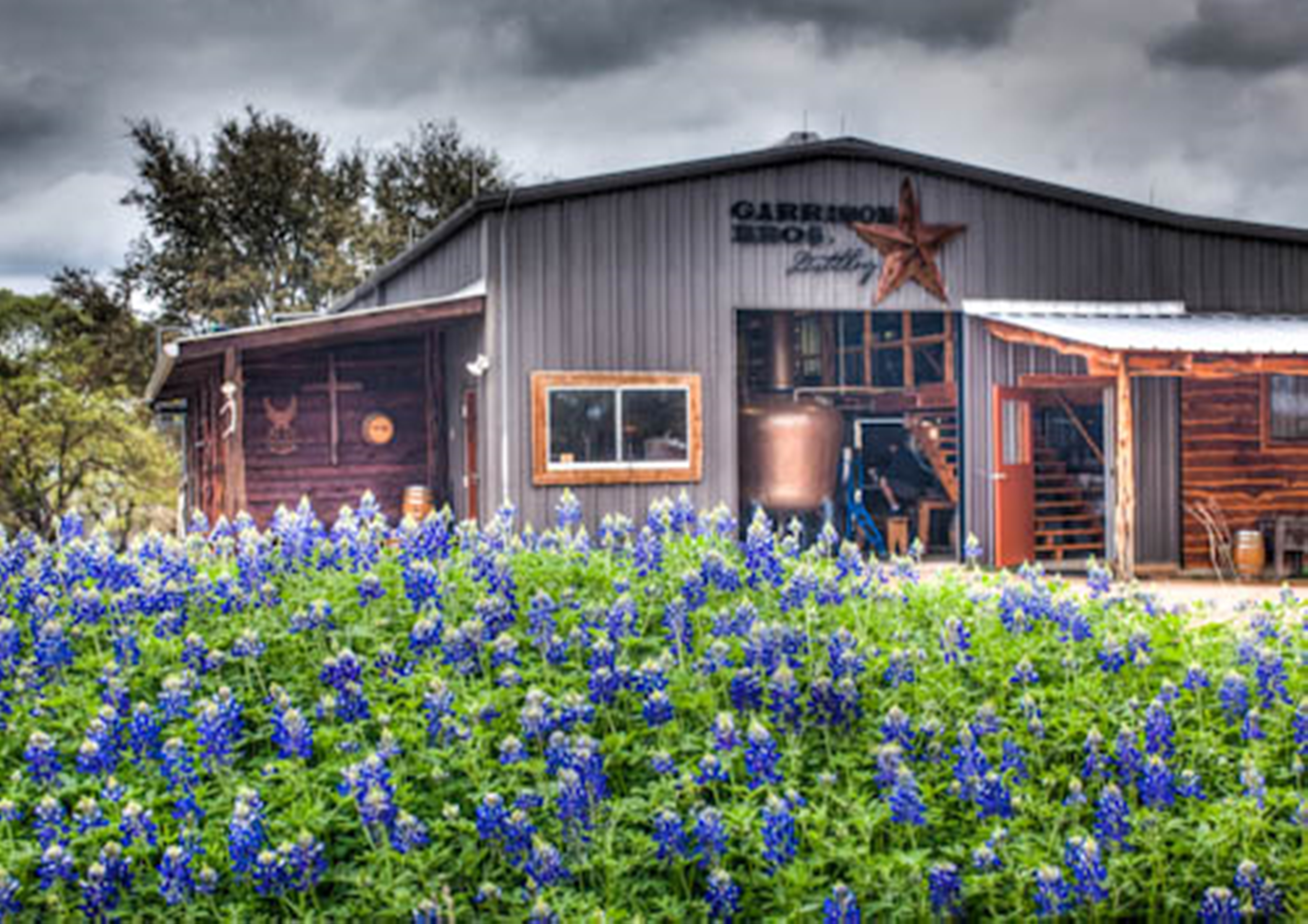 A view of the Garrison Brothers Distillery in Texas.